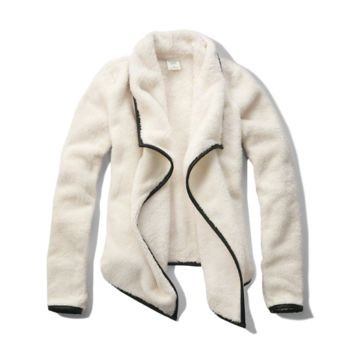 Faux Leather Trim Sherpa Non Closure