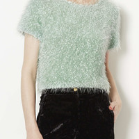 Knitted Sparkle Fluffy Jumper