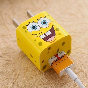 SpongeBob iPhone Charger Stickers