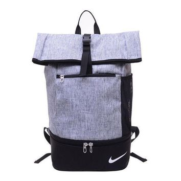 Simpleclothesv ???'nike' Large Capacity Sport Travel Bag School College Backpack Laptop Bag