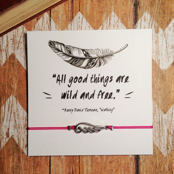 """Bohemian Wing Charm Bracelet and Card 