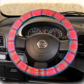 Steering Wheel Cover Bow Wheel Car Accessories Lilly Heated For Girls Interior Aztec Monogram Tribal Camo Cheetah Sterling Chevron Scotland