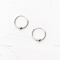 Mini Ball Hoop Earrings in Silver - Urban Outfitters