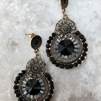 Trailblazer Earrings: Black/Multi