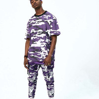 Purple Multi Camo Jogger Pants