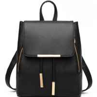 Fashion Women's Casual Backpack School Bag PU Leather