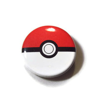 "Pokeball 1.25"" Pin Back Button Badge"