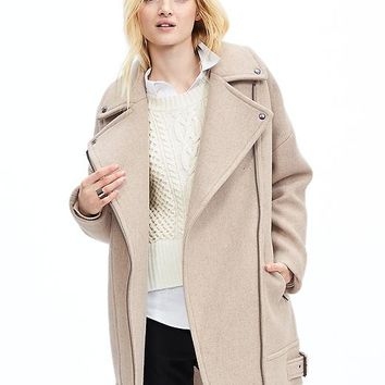 Banana Republic Womens Moto Cocoon Coat