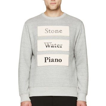 Cy Choi Grey Stone Water Piano Sweatshirt