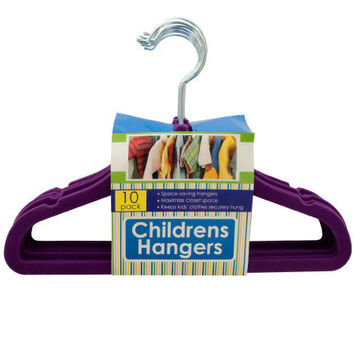 Velvet-Flocked Children's Hangers Set (Case of 16)