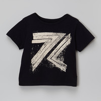 7 For All Mankind Black Logo Tee - Toddler | zulily