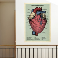 The Human Heart Adhesive Print