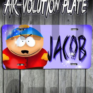 B027 Personalized Airbrush Southpark Cartman License Plate Tag