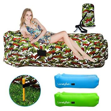 Inflatable Lounger - Waterproof & Leak-Resistant Portable Air Sofa Hammock Ideal Couch