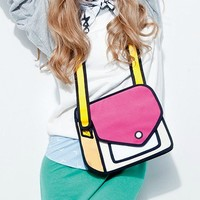 Fashion Jump Design Mixed Color 3D Cartoon Bag 2D Drawing From Paper Creative Shoulder Bag