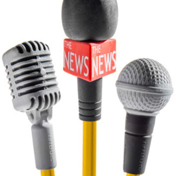 Microphone Erasers: Pencil-topping erasers shaped like microphones.