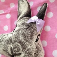 Fluffy Poofy Kawaii Bunny Brooch with light purple bow
