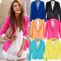 Lapel Blazer for Women (Run Small, Add One Size to Your Normal Size)