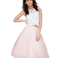 Light Pink Pleated Tutu Skirt.
