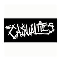 Casualties Men's Logo Cloth Patch Black