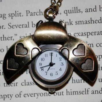 Winged Ladybug Watch Necklace | Wicked Clothes