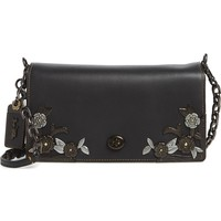 COACH 1941 Metal Tea Rose Dinky Leather Crossbody Clutch | Nordstrom