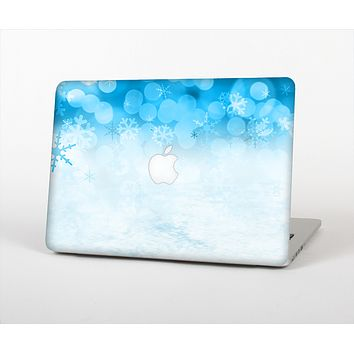 The Winter Blue Abstract Unfocused Skin Set for the Apple MacBook Air 11""