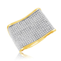 Diamond Micropave Mens Ring 0.89 Cttw in 10KT