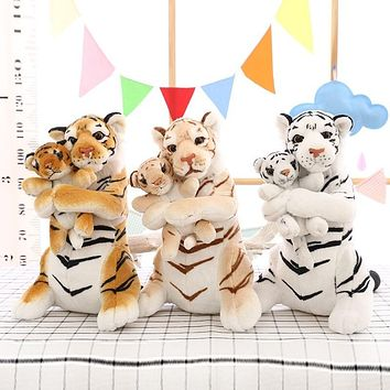 50 CM Mother and Child Tiger Plush Toys Stuffed Animal Plush Tiger - 3 Colors