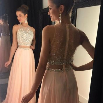 Crystal Bead Evening Dress 2017 New Off The Shoulder O Neck Party Pageant Formal Prom Gown Custom