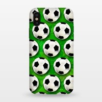 Soccer Ball Football Pattern - StrongFit iPhone X Cases | ArtsCase