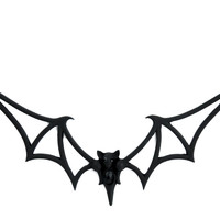Black Tribal Gothic Vampire Bat Necklace Dracula