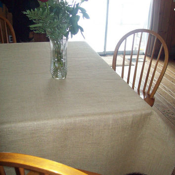 Burlap Tablecloth 60 x 102 / Other Colors Available