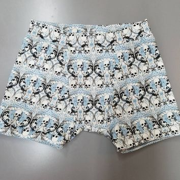 Boys - girls - unisex - toddler - kids - boxer - briefs - skull - skulls - knit - rockabilly - goth - gothabilly - pinup - shorts