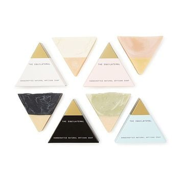 Equilateral Handmade Soap Set | natural soap, bubble bath, pretty soap