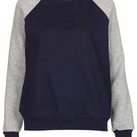 MOTO Raglan Sleeve Denim Sweat - New In This Week - New In - Topshop
