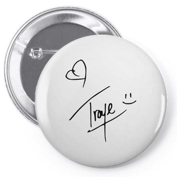 troye sivan signature Pin-back button