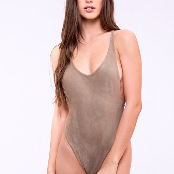 Dbrie Swim Daxi One Piece | Reversible Suede One Piece