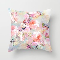 Love of a Flower Throw Pillow by Girly Trend