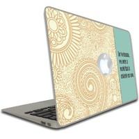 "Macbook Air or Macbook Pro (13 inch) Vinyl, Removable Skin - Dumbledore Quote - ""For in dreams..."" - Harry Potter"