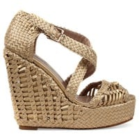 Obsession Rules Valencia Woven Wedge Sandals