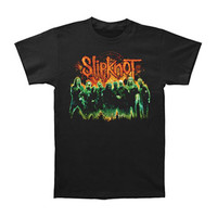 Slipknot Men's  Green Group T-shirt Black Rockabilia