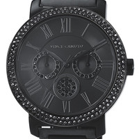 Vince Camuto Crystal Bezel Chronograph Bracelet Watch, 42mm