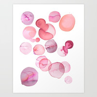 watercolour spots Art Print by Emilia Jesenska