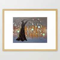 :: Willow Sunset ::  by Gale Storm Framed Art Print by GaleStorm Artworks | Society6