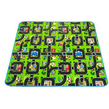 4 sizes 0.5 cm Thick Town City Blanket Traffic Baby Crawling mat EVA Foam Climbing Pad Green Road Child Play Mat Carpet for Baby