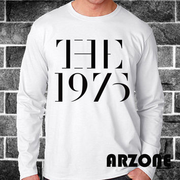 The 1975 Shirt The 1975 Band Long Sleeved Printed Black and White Color Unisex Size - AR55