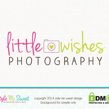 Premade Camera Logo Photography Logo Small Business Branding