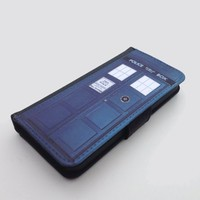 TARDIS Doctor Who iPhone 5C wallet case, book style flip case - ready to ship All Carriers