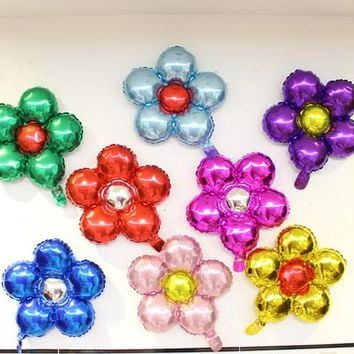1pcs 50cm five flowers Aluminum foil balloons lovely toys Wedding favors and gifts children's birthday party decoration balloons